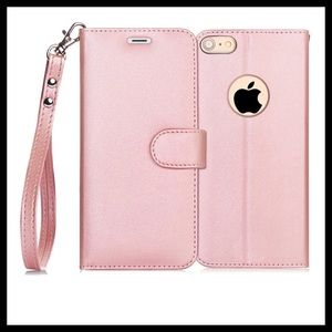 Rose Pink iPhone 6/6S Plus Wallet Case